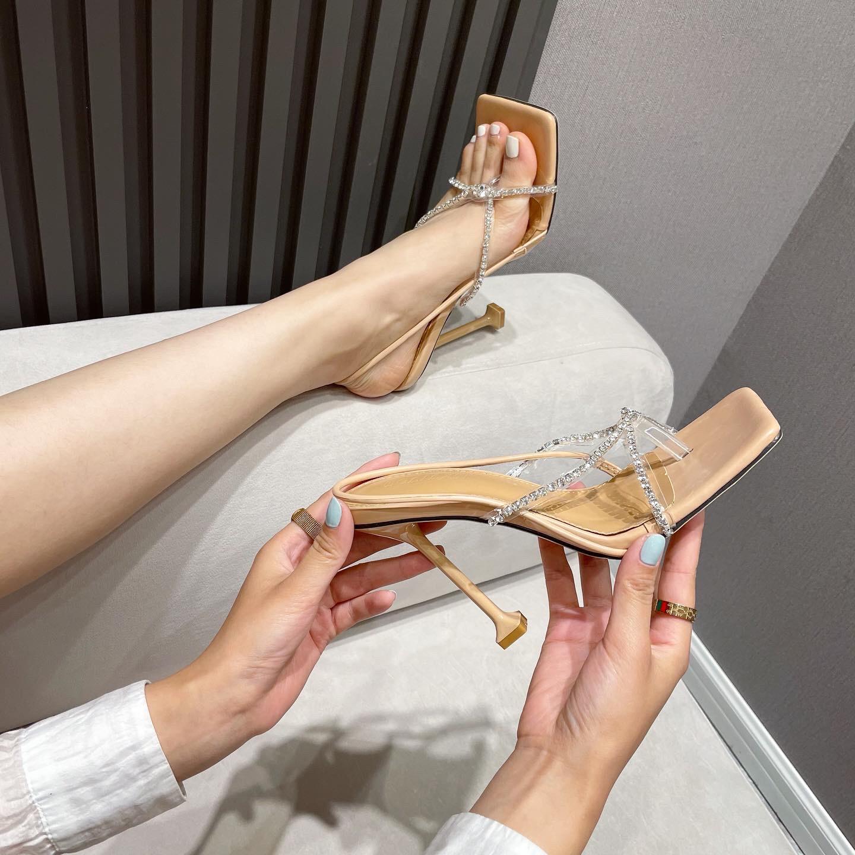 sexy flip flops rhinestones stiletto sandals  NSHU45077