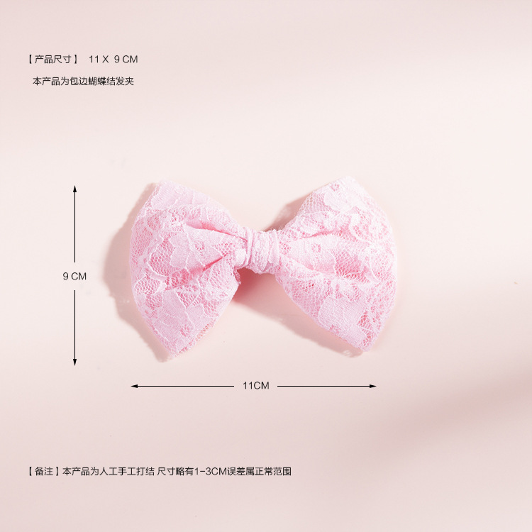 childrens lace bow hair clip NHWO335113