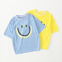 男童短袖冰丝速干T恤2021新款中大童半袖儿童宽松上衣户外运动t恤
