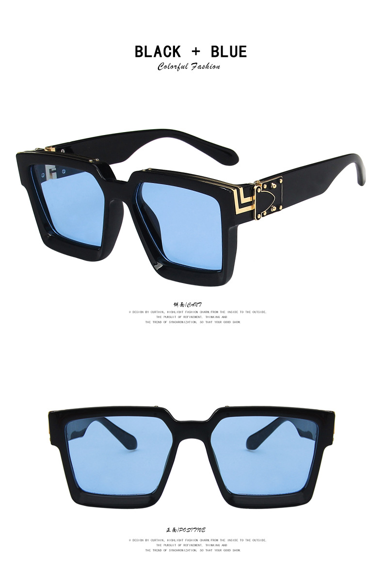 fashion big frame square sunglasses  NHKD322658