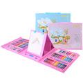 儿童画画工具美术绘画用品水彩笔蜡笔油画棒礼盒176件画笔套装