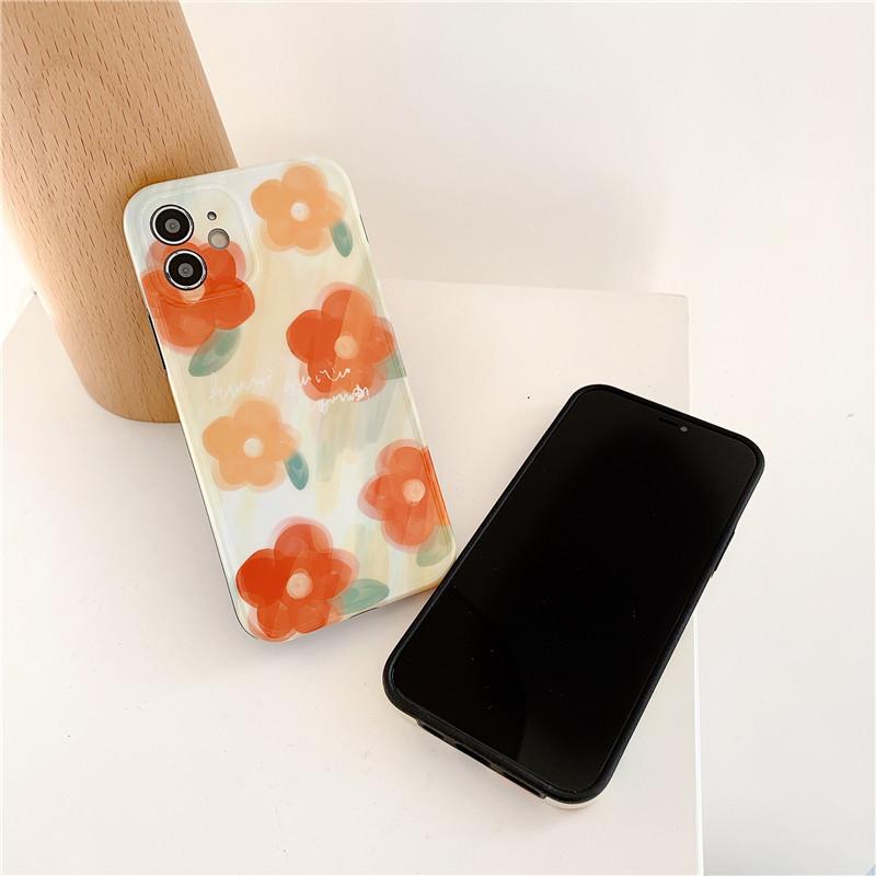Korea watercolor flowers phone case NHFI337207