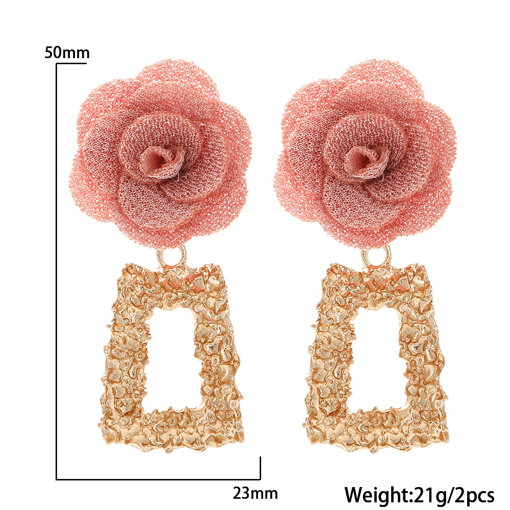 fashion chiffon cloth lace flower multilayer earrings NHJJ323557