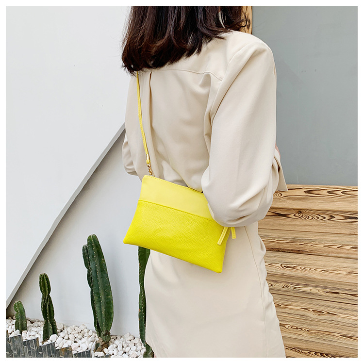 Fashion solid color small square bag wholesale NHXC337297