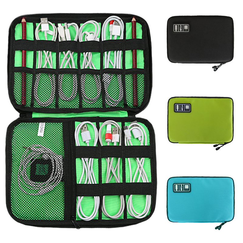 数据线数码收纳包 手机配件耳机充电器u盘收纳袋多功能便携收纳包