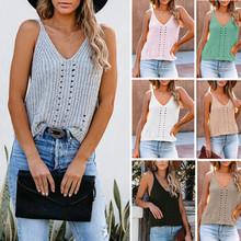 2021夏季外贸亚马逊新款纯色时尚吊带衫家居小背心冰丝针织女批发
