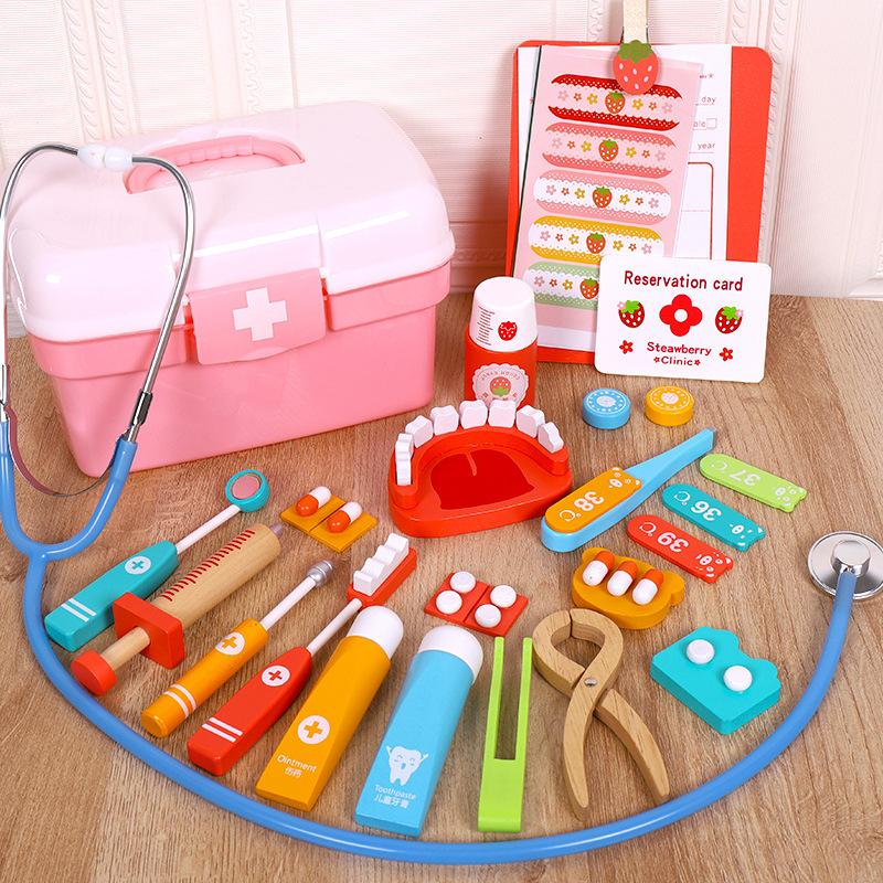 跨境儿童仿真过家家医生玩具组合男女孩牙医套装打针游戏宝宝礼物