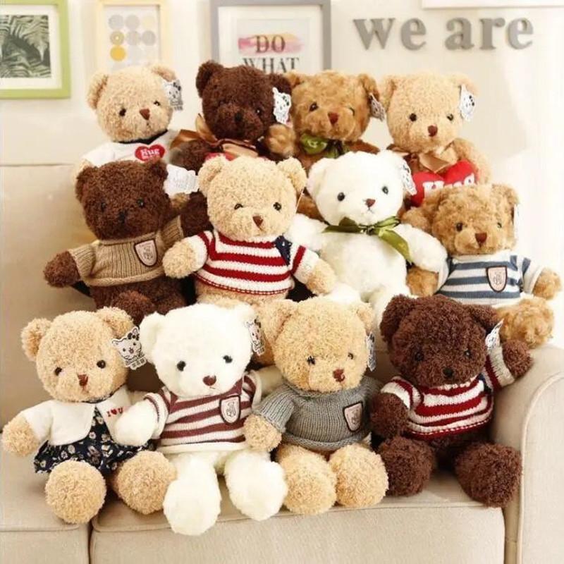 毛衣小熊公仔泰迪熊毛绒玩具玩偶抓机布娃娃儿童玩偶生日礼物批发
