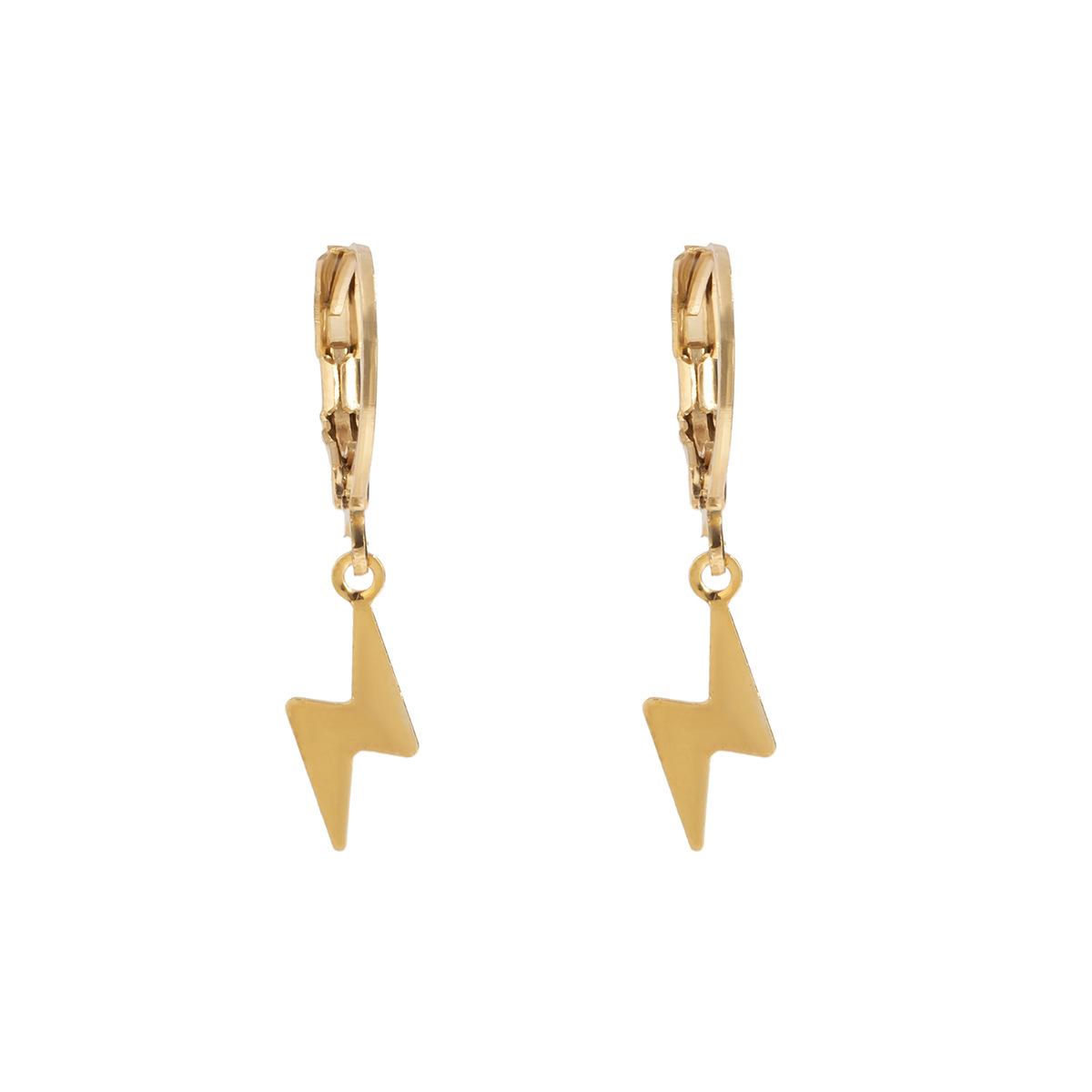 Simple star moon heart shape alloy earrings set  NHXR368157