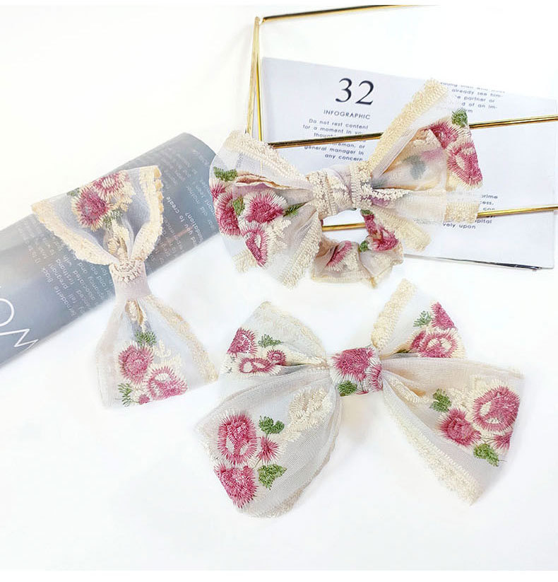 retro lace bow hair rope NHUX339005