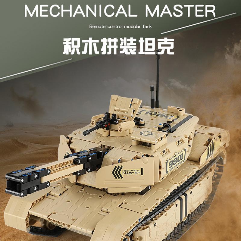 预售启辉机械大师系列电动拼装模型积木旗舰版沙漠大坦克儿童玩具