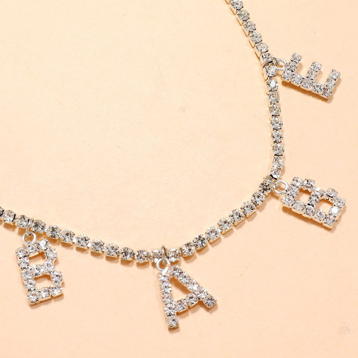 simple letters point diamond sexy body chain NHPV306451