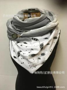 Ebay speed mai pass ama xun printing fashion warm casual shawl buckle bib