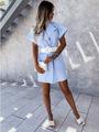 2021独立站wish亚马逊爆款 2021夏装新款亚马逊格子新款连衣裙