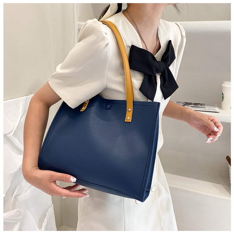 Simple solid color largecapacity bag  NHXC367227