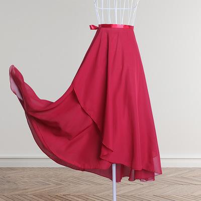 Adult half-length ballet skirt gymnastics practice clothes teacher skirt