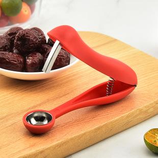 Push-type cherry core, red dates, cherries, cherries, seeds, open dates, creative household kitchen tools