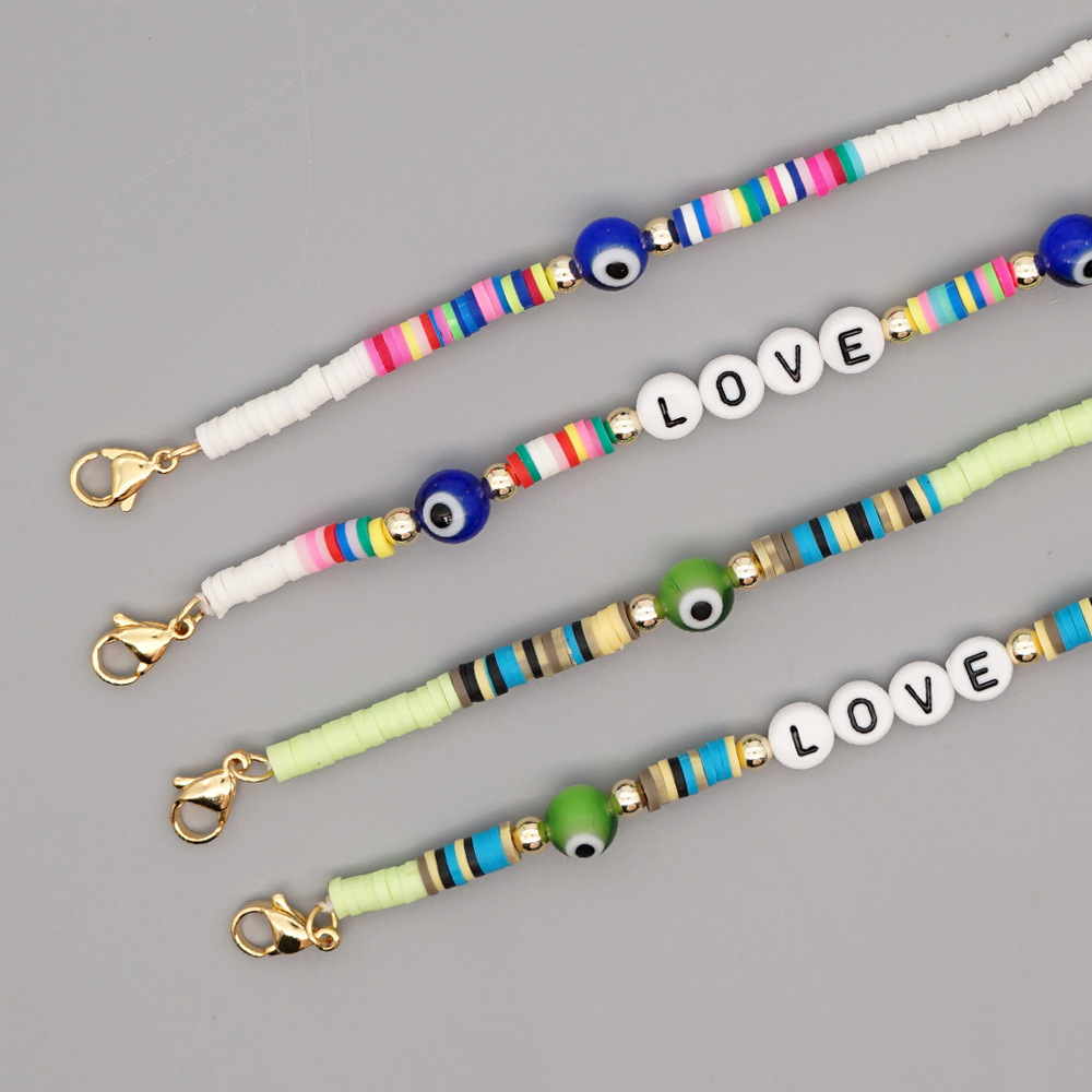 Simple bohemian style soft pottery necklace NHGW316645