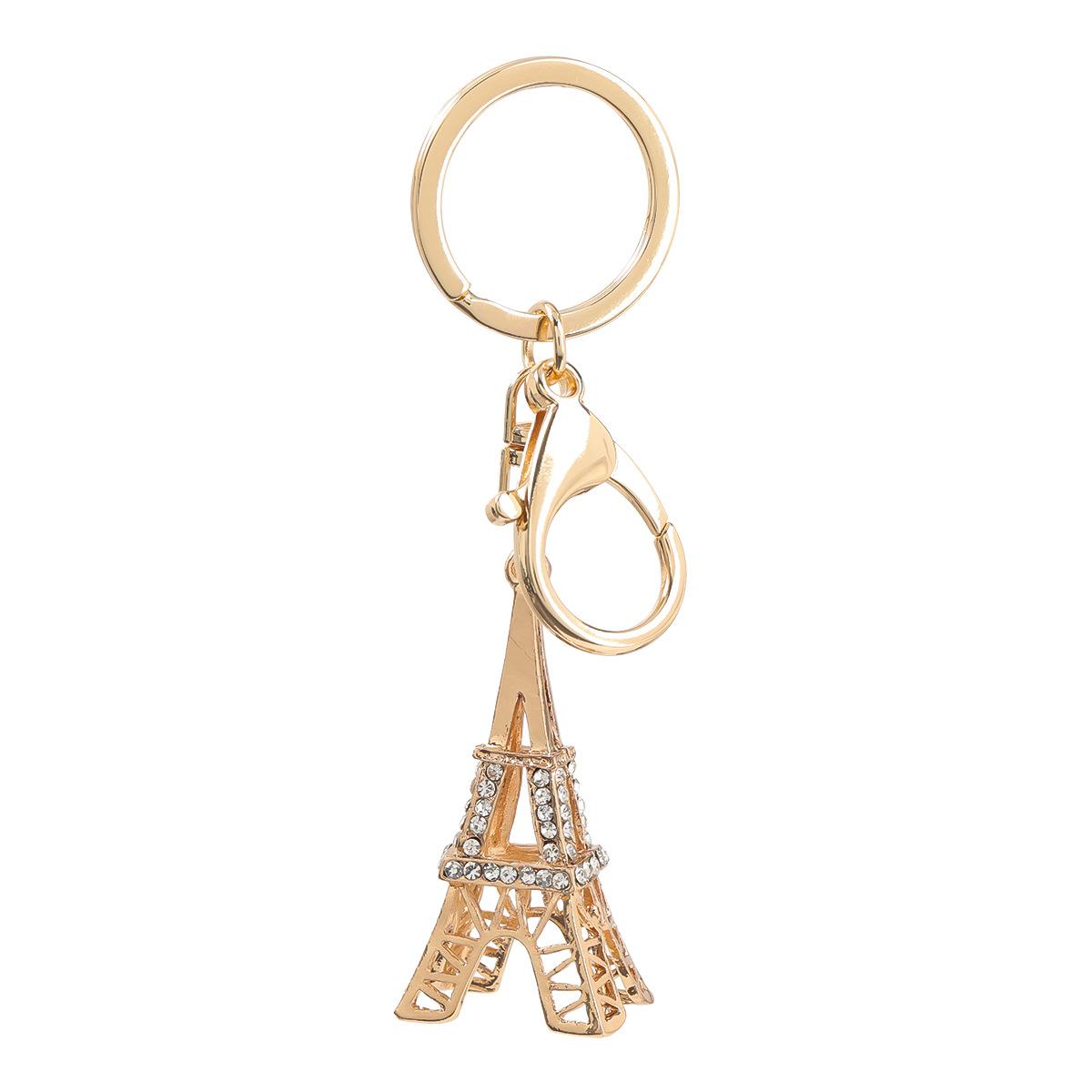 fashion alloy diamond Eiffel Tower key chain NHJE303101