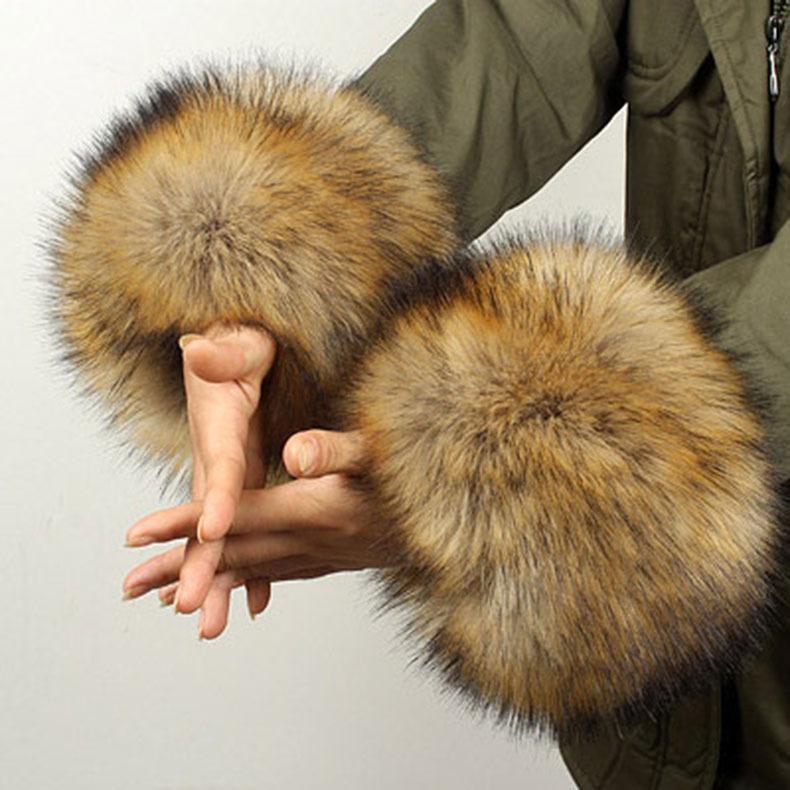 貉子毛狐狸毛仿皮草毛毛手圈毛毛护腕女袖套仿兔毛手环袖口手腕套