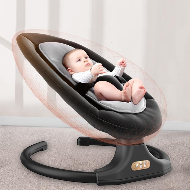 婴儿电动摇椅安抚椅摇摇椅宝宝新生儿摇篮儿童躺椅哄娃睡觉神器