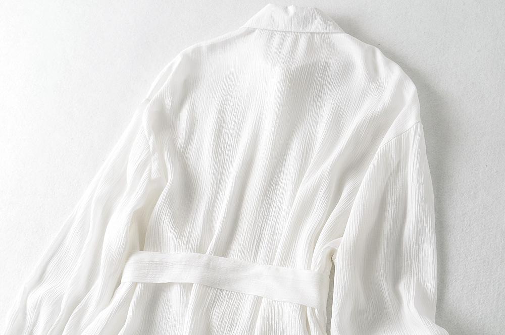 women's lace-up pleated waist shirt dress nihaostyles clothing wholesale NSXPF77390