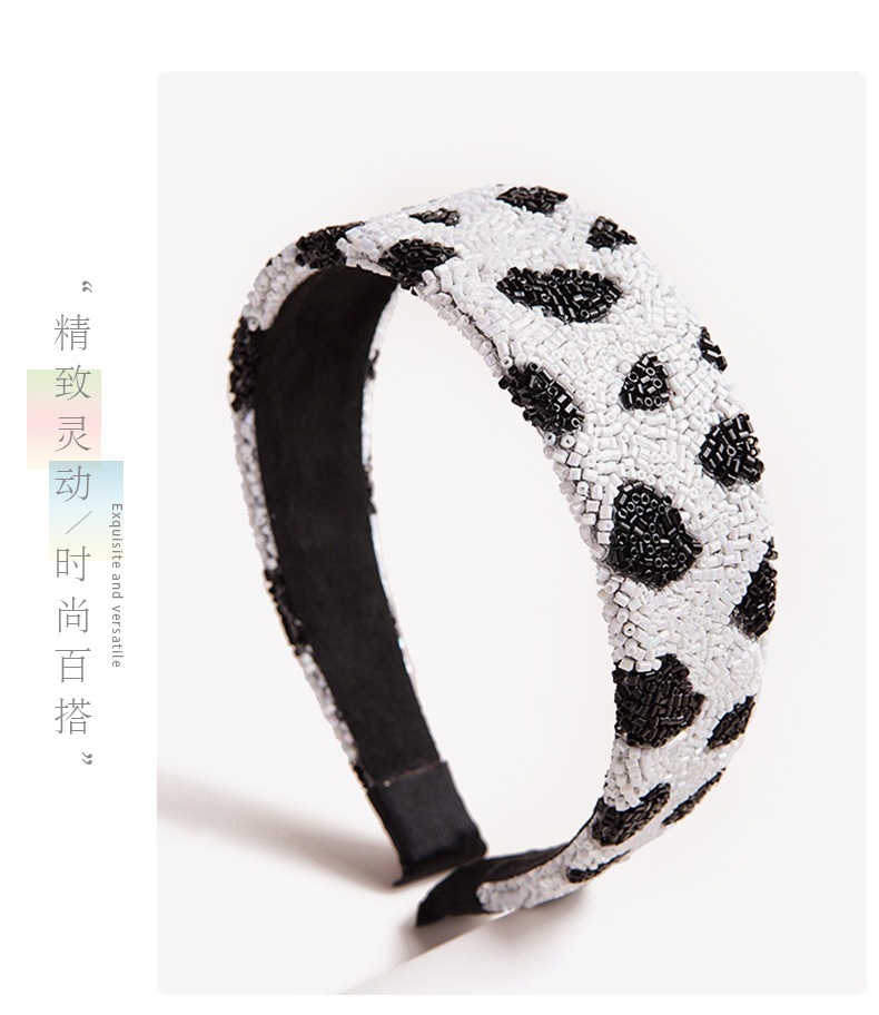 Retro zebra pattern headband NHGE333303
