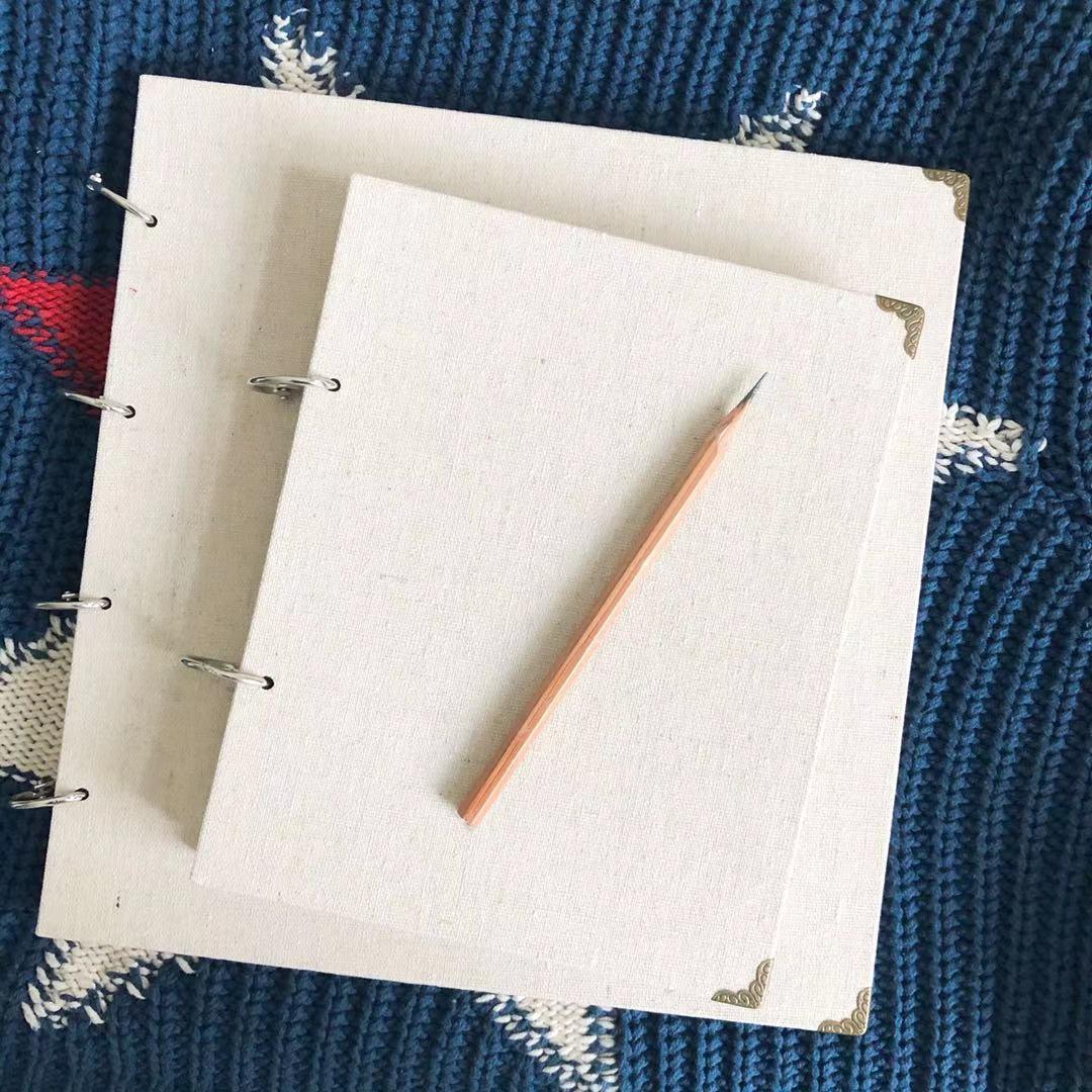 麻布封面素描本可换纸速写活页本儿童涂鸦本学生素描彩铅手绘本子