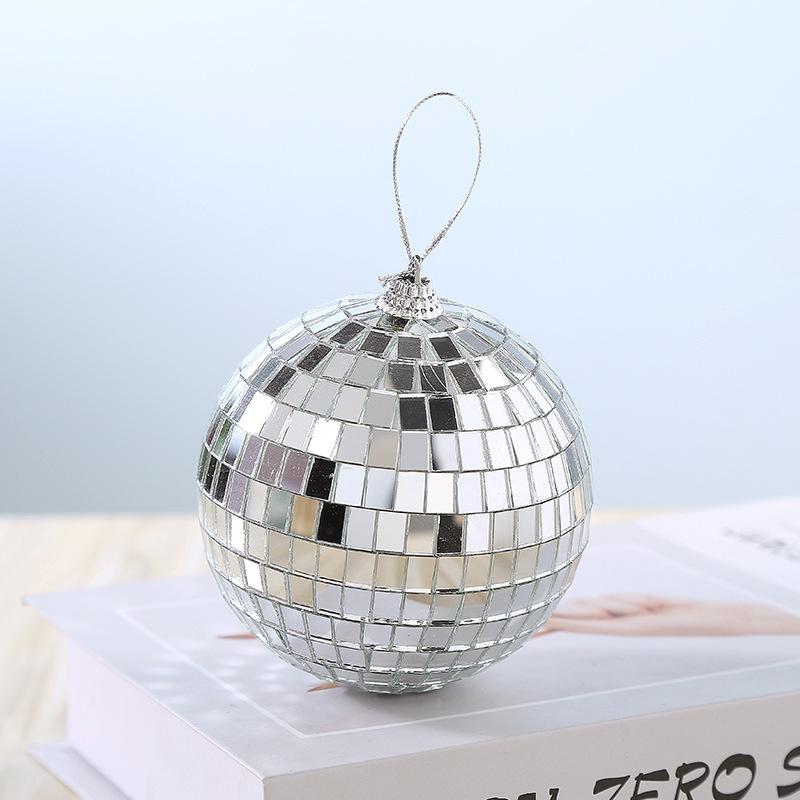 厂家直营镜面反光球2cm-80cm酒吧迪斯 婚庆 ins蛋糕装饰球 圣诞球