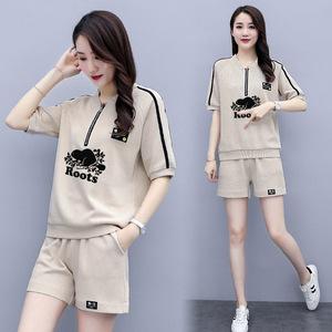 YF60316# 夏季短裤休闲运动套装女宽松显瘦洋气减龄时尚两件套 服装批发女装直播货源