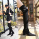009-20 European and American fashion contracted with suede boots thick with high sexy nightclub show thin pedicure knee-high boots