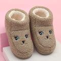 6935-1新款棉拖秋冬中童保暖防滑毛绒包跟包头软底家居室内拖鞋