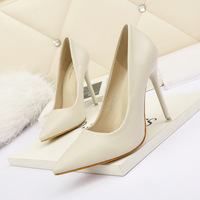 3088-2 han edition fashion pointed shallow mouth high-heeled shoes nightclub show thin and sexy professional OL women's shoe heel shoes