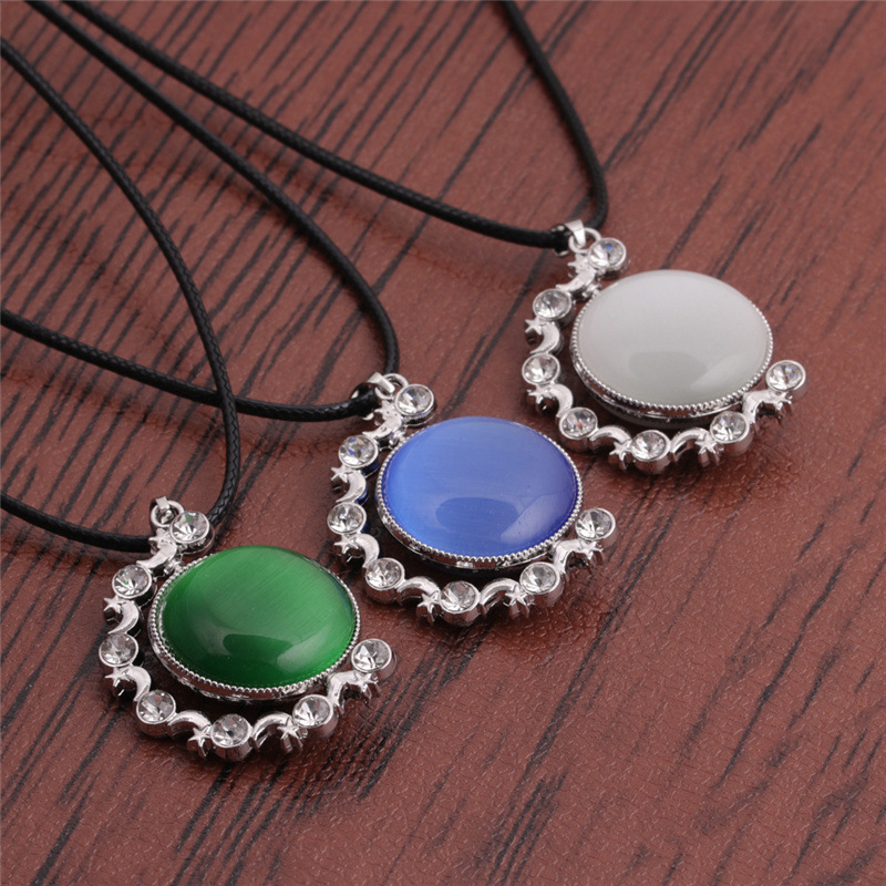 Korean diamonds stainless steel necklace wholesale NHYL331858