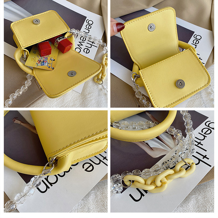 fashion pearl chain mini square bag NHWH337694