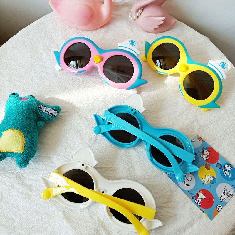 New cartoon penguin children's glasses NHBA325479