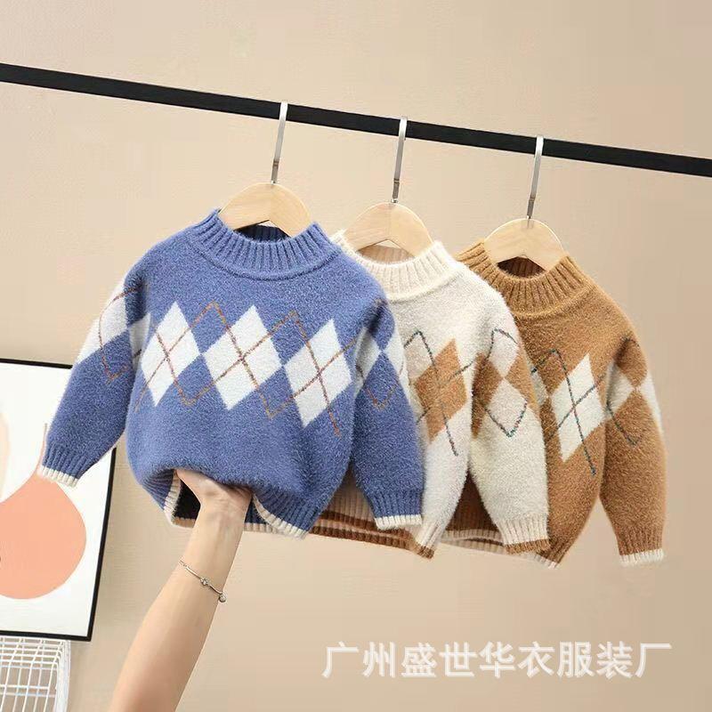 21小童秋冬新款卡通儿童毛衣百搭毛衣宝宝针织衫毛线保暖长袖毛衣