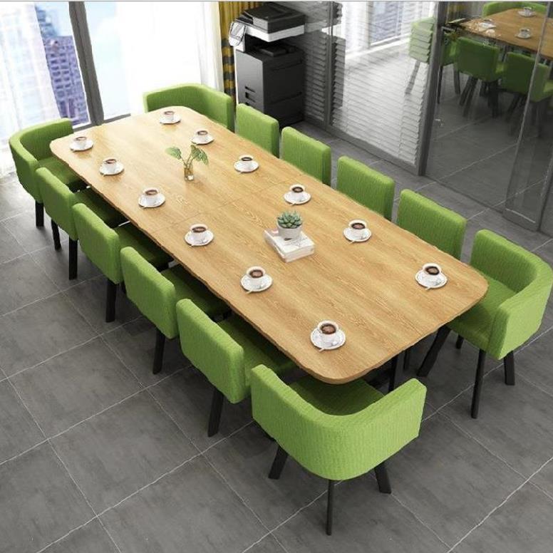 甜品店闲聊员工喝茶活动室会客休闲洽谈桌椅子组合区4人位谈判美