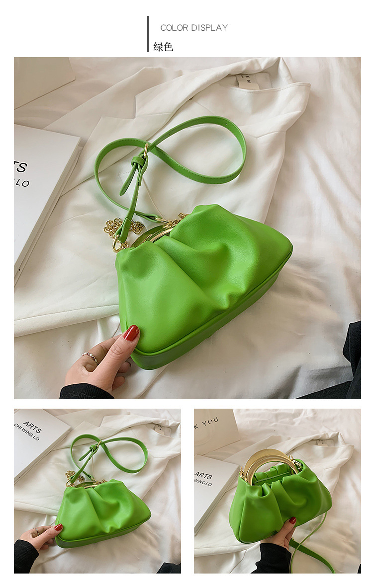 wholesale fashion candy color messenger bucket bag Nihaojewelry NHLH386301
