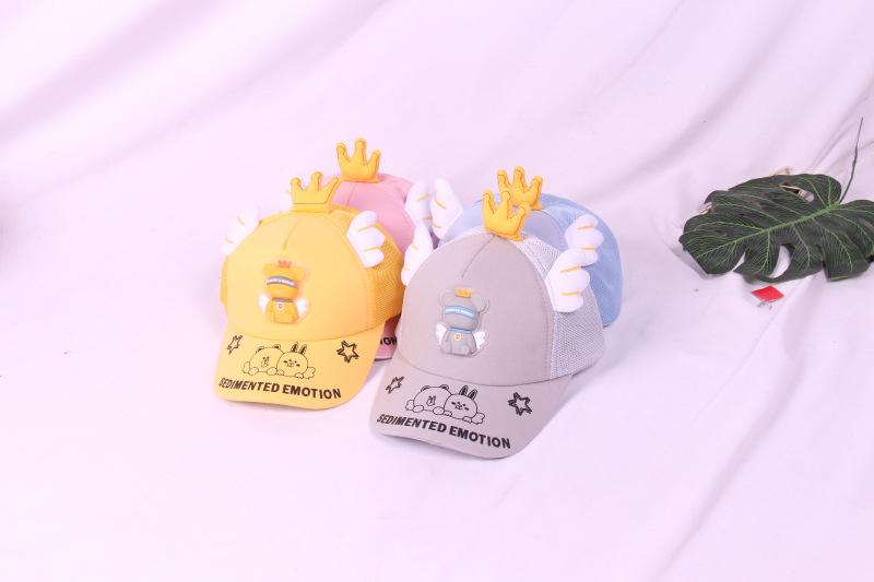 cartoon shape sunscreen breathable childrens baseball cap wholesale NHCM340467