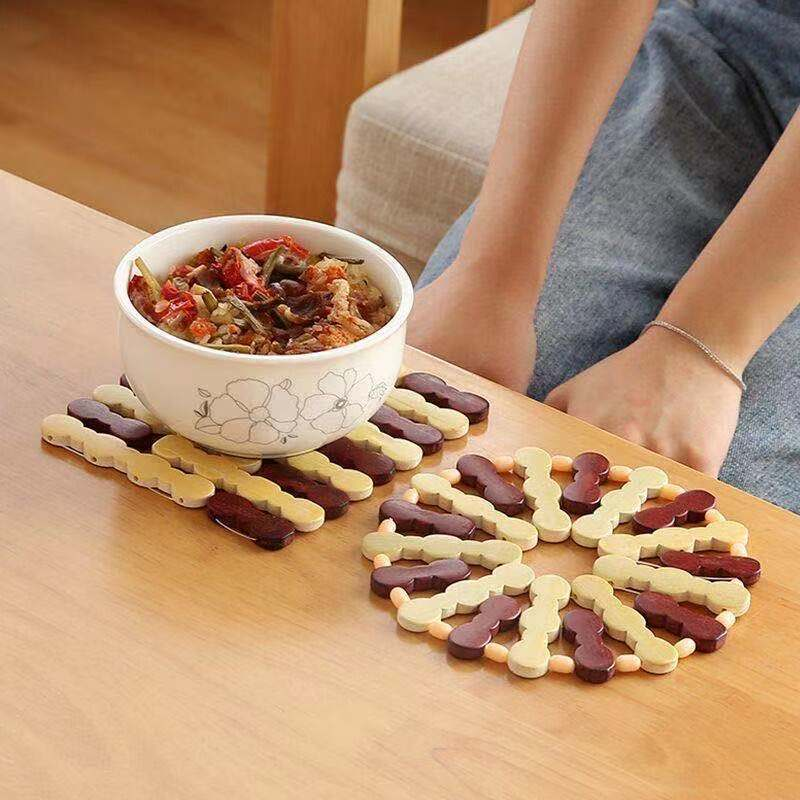 芷美批发菜垫子隔热垫家用竹制耐热砂锅垫餐桌垫碗垫茶杯垫盘子垫