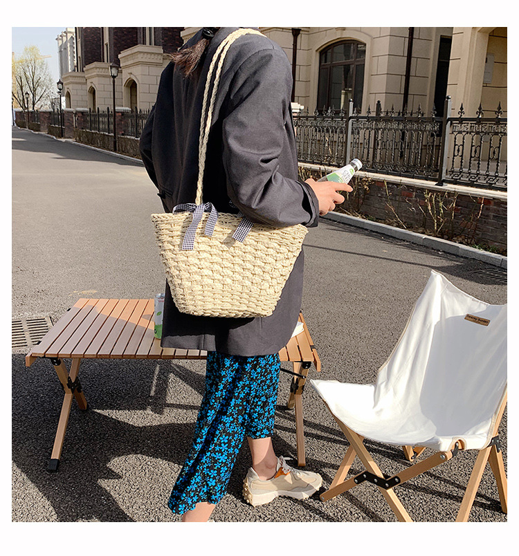 new fashion PU synthetic leather woven bag NHJZ334016