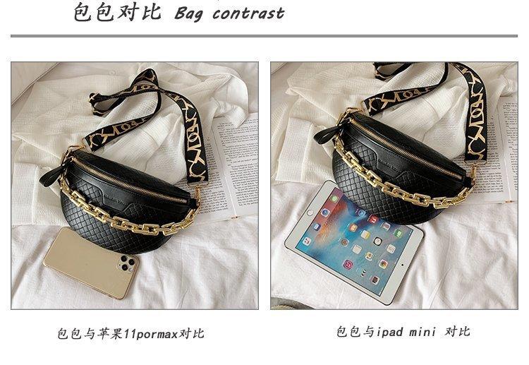 Acrylic thick chain shoulder messenger bag chest bag mobile phone waist bag  NHTG313589
