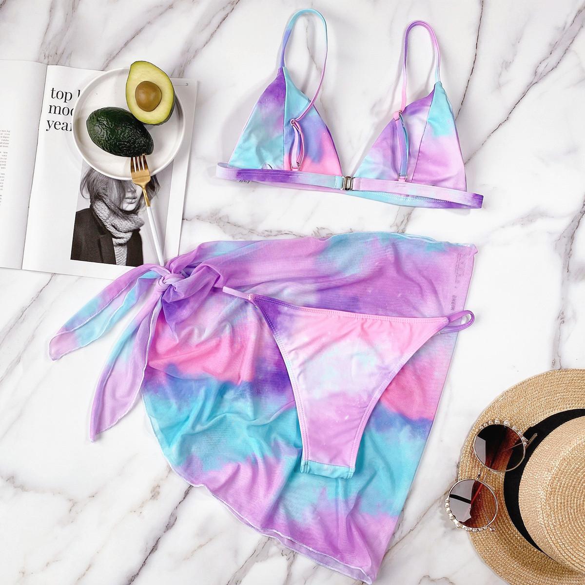 fashion sexy tie-dye split swimwear NSDA42713