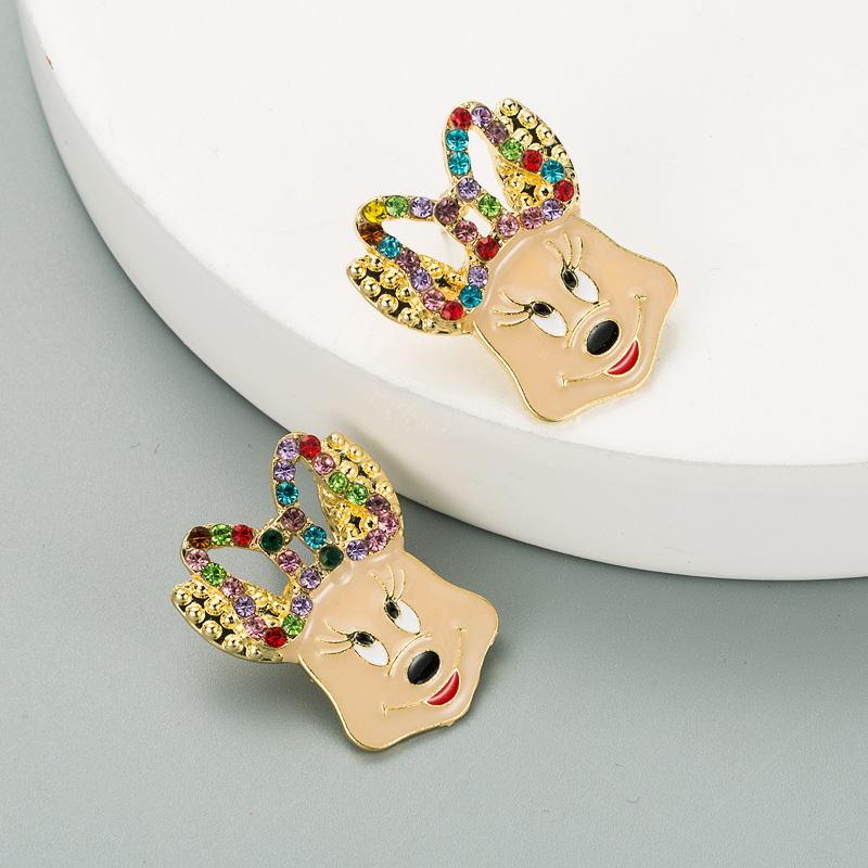 new cute animal exaggerated earrings  NHLN315400