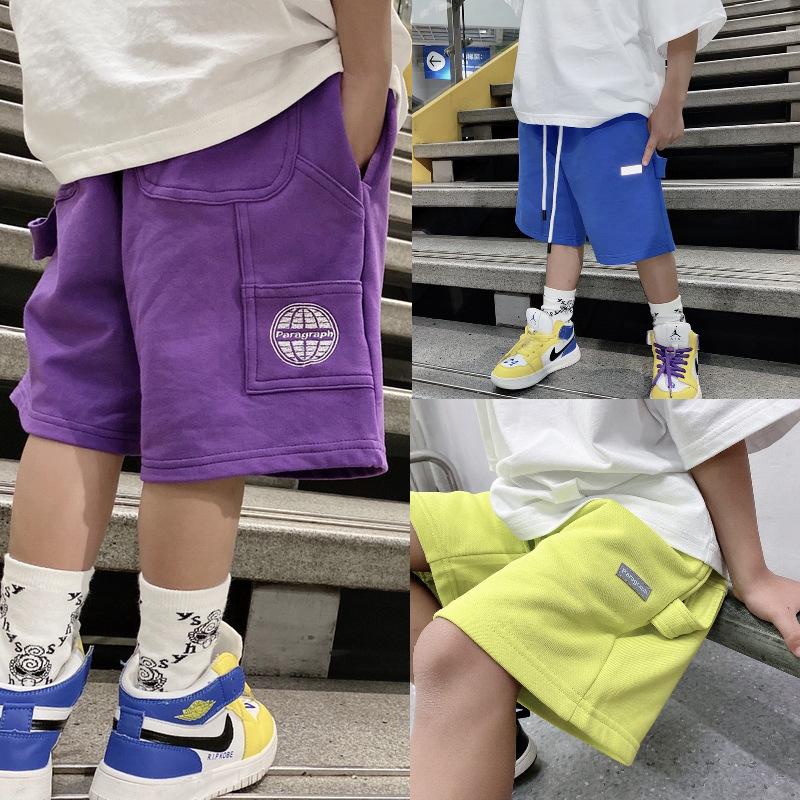 2021夏装男童短裤纯色韩版夏季休闲裤男童装裤子时尚高街潮