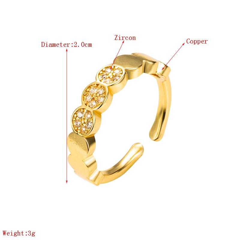 creative heart-shaped zircon ring NHLN332647