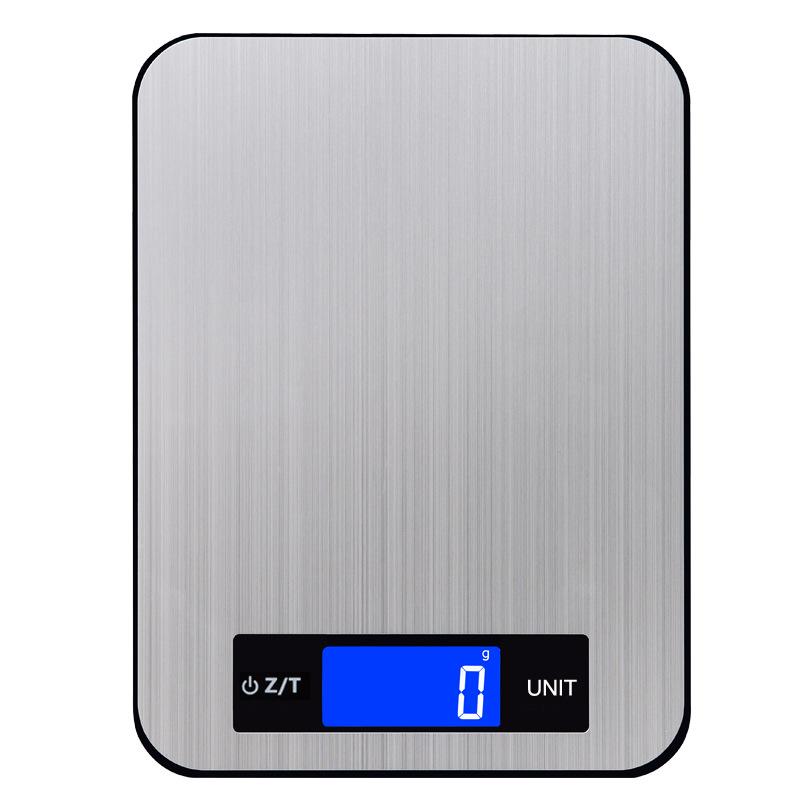 2021新款玻璃不锈钢克秤15kg台秤 触摸按键夜视电子秤精准厨房秤