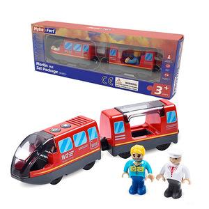 智乐妙磁性电动遥控火车兼容托马斯牵木质轨道小火车动力车头玩具