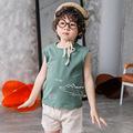 儿童背心2021夏季男童女童卡通棉背心宝宝打底无袖上衣中小童坎肩